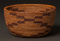 American Indian Art:Baskets, A MAIDU COILED BOWL...