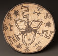 American Indian Art:Baskets, AN APACHE PICTORIAL COILED BOWL. c. 1920...