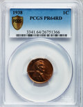 Proof Lincoln Cents: , 1938 1C PR64 Red PCGS Secure. PCGS Population (608/811). NGCCensus: (233/382). Mintage: 14,734. Numismedia Wsl. Price for ...
