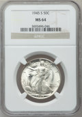 Walking Liberty Half Dollars, (2)1945-S 50C MS64 NGC. ... (Total: 2 coins)