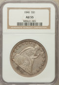 Seated Dollars: , 1846 $1 AU55 NGC. NGC Census: (61/170). PCGS Population (64/118).Mintage: 110,600. Numismedia Wsl. Price for problem free ...
