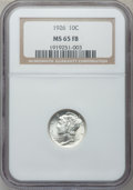 Mercury Dimes: , 1926 10C MS65 Full Bands NGC. NGC Census: (90/41). PCGS Population(165/102). Mintage: 32,160,000. Numismedia Wsl. Price fo...