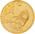 Explorers:Space Exploration, Apollo 1 Gold-Colored Fliteline Medallion from the PersonalCollection of Mission Pilot Roger Chaffee. ...