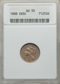 Three Cent Nickels: , 1888 3CN AU55 NGC. NGC Census: (8/220). PCGS Population (17/290).Mintage: 36,500. Numismedia Wsl. Price for problem free N...