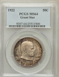 Commemorative Silver: , 1922 50C Grant With Star MS64 PCGS. PCGS Population (473/204). NGCCensus: (595/282). Mintage: 4,256. Numismedia Wsl. Price...