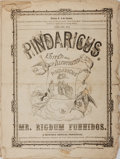 Books:Americana & American History, [William H. Green] Rigdom Funnidos [editor]. Pindaricus.Group of Two Issues. January and February, 1852. Willia...