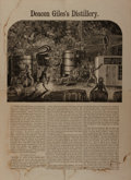 Books:Americana & American History, [Temperance Movement]. Deacon Giles's Distillery. NationalTemperance Society and Publication House, [n. d.]. Measur...