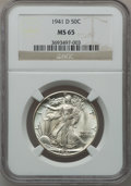 Walking Liberty Half Dollars, (2)1941-D 50C MS65 NGC. ... (Total: 2 coins)