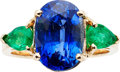 Estate Jewelry:Rings, Sapphire, Emerald, Gold Ring. ...