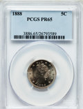 Proof Liberty Nickels: , 1888 5C PR65 PCGS. PCGS Population (183/77). NGC Census: (251/98).Mintage: 4,582. Numismedia Wsl. Price for problem free N...