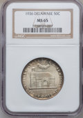 Commemorative Silver: , 1936 50C Delaware MS65 NGC. NGC Census: (1069/567). PCGS Population(1374/739). Mintage: 20,993. Numismedia Wsl. Price for ...