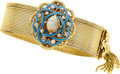 Estate Jewelry:Bracelets, Victorian Revival Opal, Diamond, Gold Bracelet. ...