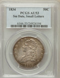 Bust Half Dollars: , 1834 50C Small Date, Small Letters AU53 PCGS. PCGS Population(77/400). ...