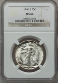 Walking Liberty Half Dollars, (2)1946-S 50C MS64 NGC.... (Total: 2 coins)