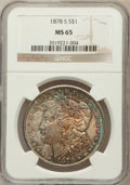 Morgan Dollars: , 1878-S $1 MS65 NGC. NGC Census: (3956/506). PCGS Population(3616/601). Mintage: 9,774,000. Numismedia Wsl. Price for probl...