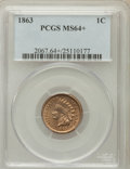 Indian Cents: , 1863 1C MS64+ PCGS. PCGS Population (782/244). NGC Census:(617/224). Mintage: 49,840,000. Numismedia Wsl. Price for proble...