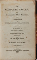 Books:Sporting Books, [Angling]. Isaac Walton and Charles Cotton. The CompleteAngler. Bagster, 1808. Later edition. Contemporary half lea...