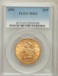 Liberty Eagles: , 1896 $10 MS63 PCGS. PCGS Population (133/9). NGC Census: (218/21).Mintage: 76,200. Numismedia Wsl. Price for problem free ...