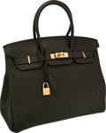 Luxury Accessories:Bags, Hermes 35cm Vert Veronese Clemence Leather Birkin Bag with GoldHardware. ...