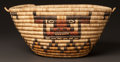 American Indian Art:Baskets, A HOPI PICTORIAL POLYCHROME BASKET...
