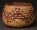 American Indian Art:Baskets, A NORTHERN CALIFORNIA TWINED BOWL. c. 1900...