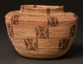 American Indian Art:Baskets, A KAWAIISU POLYCHROME COILED JAR. c. 1900...