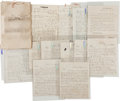 Autographs:Military Figures, [Destruction of the Civil War Steamer Ruth]. Archive of Documents... (Total: 13 Items)