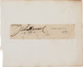 Autographs:Statesmen, John Hancock Document Signed... (Total: 2 Items)