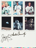 Autographs:Celebrities, Spaceshots Trading Cards Promo Sheet Signed by Conrad and Lovell....