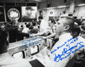 Autographs:Celebrities, Apollo 13 Photo Signed by Lovell, Kraft, and Kranz. ...