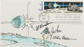 Autographs:Celebrities, Apollo 15 Crew-Signed Cover with a Robert McCall Painted Cachet....