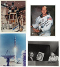 Autographs:Celebrities, Apollo Astronauts: Four Signed Photos. ... (Total: 4 Items)