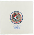 Explorers:Space Exploration, Dave Scott Signed Apollo 15 Beta Cloth Mission Insignia. ...