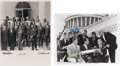 Autographs:Celebrities, Mercury Seven Astronauts: Two Washington D.C. Photos Signed by Three.... (Total: 2 Items)