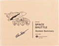 Explorers:Space Exploration, Rockwell Space Shuttle System Summary Book Signed by andOriginally from the Personal Collection of Dave Scott. ...