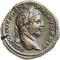 Ancients:Roman Imperial, Ancients: Geta (AD 209-211). Orichalcum sestertius (33mm, 28.80 gm, 12h). ...