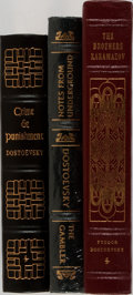 Books:Literature 1900-up, Fyodor Dostoevsky. Group of Three Books Published by Easton Press.Publisher's leather with mild shelfwear and some occasion...(Total: 3 Items)