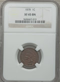 Indian Cents: , 1878 1C XF45 NGC. NGC Census: (19/211). PCGS Population (44/199).Mintage: 5,799,850. Numismedia Wsl. Price for problem fre...