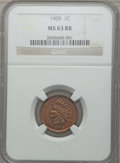 Indian Cents: , 1905 1C MS63 Red and Brown NGC. NGC Census: (109/436). PCGSPopulation (169/528). Mintage: 80,719,160. Numismedia Wsl. Pric...