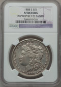 Morgan Dollars: , 1888-S $1 -- Improperly Cleaned -- NGC Details. XF. NGC Census:(25/3693). PCGS Population (59/6288). Mintage: 657,000. Num...