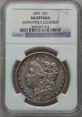 Morgan Dollars: , 1899 $1 -- Improperly Cleaned -- NGC Details. AU. NGC Census:(49/8131). PCGS Population (100/10692). Mintage: 330,846. Num...