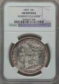 Morgan Dollars: , 1899 $1 -- Harshly Cleaned -- NGC Details. AU. NGC Census:(49/8131). PCGS Population (100/10692). Mintage: 330,846. Numism...