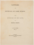 Books:Literature Pre-1900, [Lord Byron]. Thomas Moore (editor). Letters and Journals ofLord Byron: With Notices of His Life, by Thomas Moore...(Total: 2 Items)