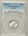 Mercury Dimes: , 1945-S 10C Micro S MS65 Full Bands PCGS. PCGS Population (159/114).NGC Census: (25/26). Mintage: 41,920,000. Numismedia Ws...
