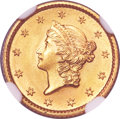 Gold Dollars, 1853 G$1 MS67 NGC....