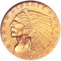 Proof Indian Quarter Eagles, 1908 $2 1/2 PR66 NGC. CAC....