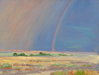 ARTHUR J. HAMMOND (American, 1875-1947) Four Miles Southeast of Roswell, New Mexico, 1925 Oil on boa