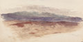 Fine Art - Painting, American:Antique  (Pre 1900), STANFORD WHITE (American, 1853-1906). Shawangunk Ridge,Newburgh, New York. Watercolor and pencil on paper. 7 x 13-1/2i...