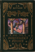 Books:Children's Books, J. K. Rowling. Harry Potter and the Sorcerer's Stone.Levine/Scholastic, 2000. Collector's edition. Publisher's leat...