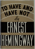 Books:Literature 1900-up, Ernest Hemingway. To Have and Have Not. Scribners, 1937.First edition, first printing. Publisher's cloth with rubbi...
